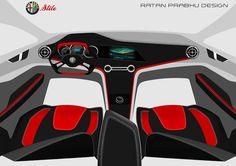 RATANDESIGNZ: Alfa Romeo Stile Concept Interior Design Sketch