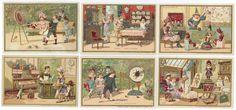 CHROMOS BON MARCHÉ - 1889/1891 - JOUETS. Série complète des 6 chromos 121 x 82 mm[...] | Auction.fr