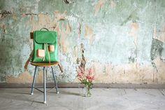 UUU! So beautiful! Pocket backpack Green by Kuula+Jylhä #finnishdesign #Kuula+Jylhä #weecos #sustainable