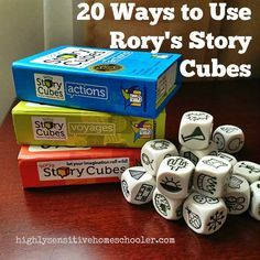 Poesía con story cubes 20 creative ways to use one of our favorite games, Rory's Story Cubes Writing Games, Teaching Writing, Teaching Tools, Teaching English, Writing Prompts, Speech Therapy Activities, Language Activities, Play Therapy, Games