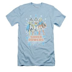 DC Comics - Girl Power Adult Slim Fit T-Shirt