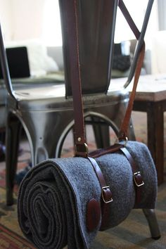 Vintage Leather Blanket Strap