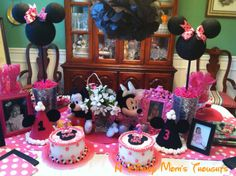 minnie mouse party centerpiece ideas | Disney Mom's Thoughts: Minnie Mouse Birthday Ideas!