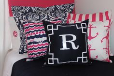 www.decor-2-ur-door.com Lilly Pulitzer Designer Dorm Room Bedding- Nautical Navy + Preppy Pink