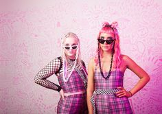 BE MY BFF - SOULAN ZEE DION JUMPSUIT, LIZA TUBE & STEVIE SHORTS IN PINK PLAID, TIE ME FISHNET TOP, UNDERGROUND SHADES & PLAYWORLD SUNGLASS CHAINS Besties, Bff, Rip N Dip, Fishnet Top, J Valentine, Ragged Priest, Sea Dragon, Faux Fur Jacket, Whats New