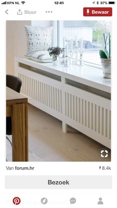 Use these radiator cover ideas to transform your room. See how to use a radiator cover for storage, reading nooks under windows, corner cabinets + more. Home Radiators, Radiator Cover, Home Living Room, Apartment Living, Home Projects, Room Inspiration, House Design, Interior Design, Furniture