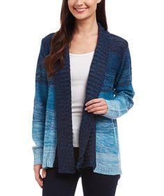 Look at this Iris Turnback Collar Hi-Low Open Cardigan on #zulily today!