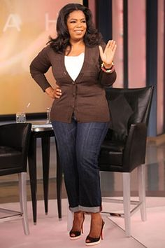 Oprah--I love this whole outfit especially the jeans