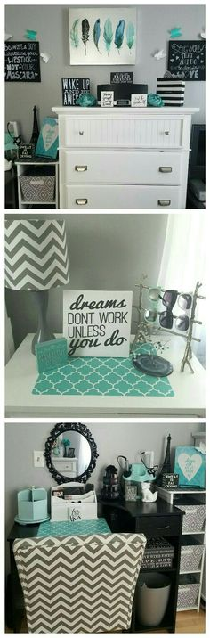 Grey and teal teen girl bedroom ideas