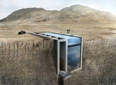 Penthouse in a rock in Beirut, Lebanon :: 10 Astonishing Houses Safely Hidden From Sight