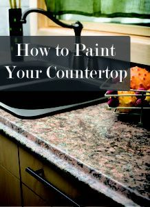 i painted my kitchen countertops | countertop