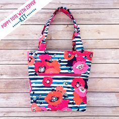 DIY Bag with Zipper Pocket {Free Pattern}
