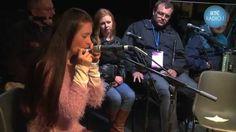 Arlene O'Sullivan plays the mouth organ at Fleadh Cheoil 2014