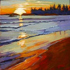 Gail Johnson Canadian artist original acrylic Canadian landscape paintings browse and buy beautiful paintings of Gail Johnson Landscape Art, Landscape Paintings, Toile Photo, Acrylic Art, Beautiful Paintings, Art Techniques, Beach Sunrise, Watercolor Art, Art Drawings