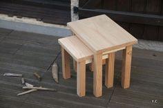 Kilo Tables gigognes en métal et chêne massif (www.habitat.fr ...