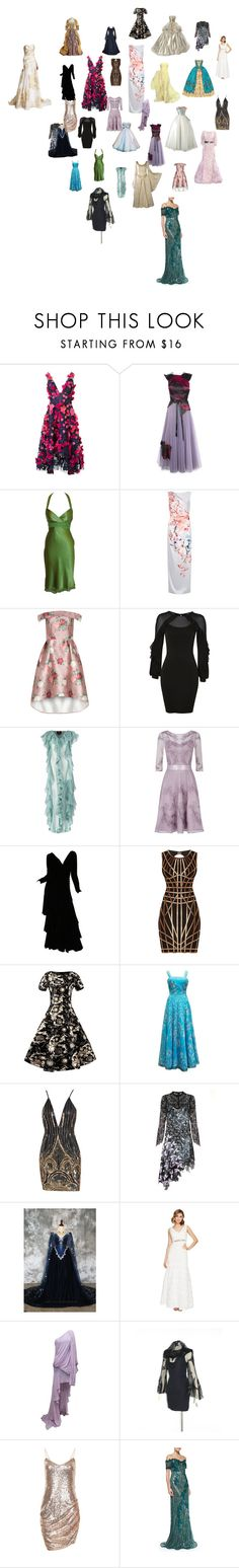 """Formal Gowns 5"" by mysfytdesigns ❤ liked on Polyvore featuring Notte by Marchesa, Christopher Kane, Damsel in a Dress, Topshop, Ekaterina Kukhareva, Disney, Ceil Chapman, Monsoon, Lanvin and Hervé Léger"