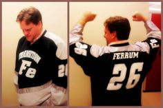 Author Shknudson In His Custom Made Iron Hockey Jersey From The L7 School Of