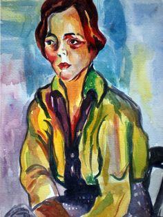 A estudante, 1915-1916, de Anita Malfatti