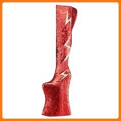 Plateau Stiefel Vivacious-3016 Rot, EU 42 (*Partner Link)