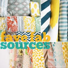 Ashley's fave fabric sources...I would add Hawthorne Threads to the list as well!
