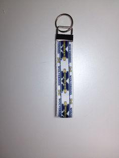 Keychain Fob/Wristlets Michigan Wolverines  on Etsy, $6.00