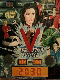 V Pinball Machine by Beatrice Tozzi V Collection, Pinball, Science Fiction, Battle, Tv, Mini, Artwork, Movie Posters, Painting