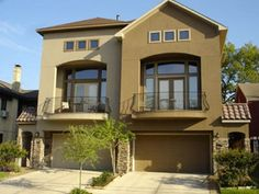 Exterior House Ideas, Exterior Paint Schemes With Stucco And Stone .
