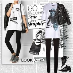 Graphic T-Shirts by stylepersonal on Polyvore featuring DKNY, H&M, River Island, Post-It and 60secondstyle