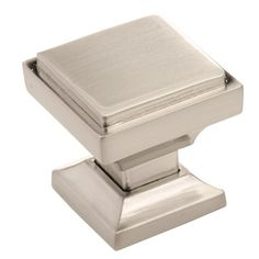 @Overstock.com - Southern Hills Satin Nickel Square Cabinet Knob (Pack of 10) - Quickly update the look of your kitchen or bath cabinetry with these beautiful square cabinet knobs constructed from zinc alloy. Featuring a satin-nickel finish, this set of 10 knobs allows you to change your decor in a matter of minutes.  http://www.overstock.com/Home-Garden/Southern-Hills-Satin-Nickel-Square-Cabinet-Knob-Pack-of-10/8096019/product.html?CID=214117 $41.49