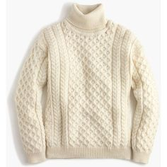 Vintage Cable Knit Wool Fisherman Sweater in Ivory Cream Irish ...