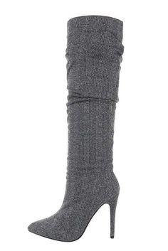 Dámske pruhované našuchovacie čižmy na ihličkovom opätku. Heels, Boots, Fashion, Crotch Boots, Moda, Heeled Boots, Shoes Heels, Shoe Boot, Fasion