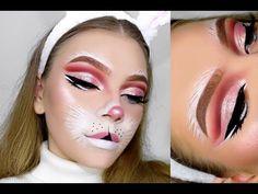 BUNNY Halloween Tutorial | TutorialsByTina - YouTube Bunny Halloween Makeup, Bunny Makeup, Halloween Look, Pretty Halloween, Halloween Eyeshadow, Costume Makeup, Party Makeup, Diy Makeup, Makeup Ideas