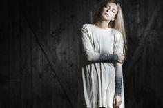 Katarzyna Palcik dress http://the-shadow-wolf.blogspot.com/  #shadowwolf #underground #tunic #ombre #katarzynapalcik #lumberjack #boots