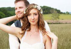 ivory cherry blossom hair crown, Bridal Flower Crown, wedding headpiece, head wreath in ivory, hair accessories, bridal, flower girl on Etsy, $45.00
