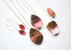 Some of the innovative and unique creations of German-born Australian jewelry designer and maker Britta Boeckmann, 24, of Etsy shop BoldB. She uses Australian wood and resin to create these awesome pieces.