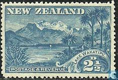Stamps - New Zealand - Mount Earnslaw 1898