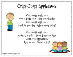 Criss-Cross Applesauce: Transition Poem