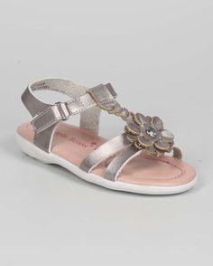 New-Girl-EC25-Metallic-Open-Toe-Braided-T-Strap-Velcro-Sandal-Size-6-11