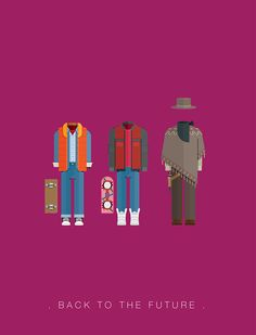 Back to the Future (1985) ~ Minimal Movie Poster by Frederico Birchal ~ Costume Series #amusementphile
