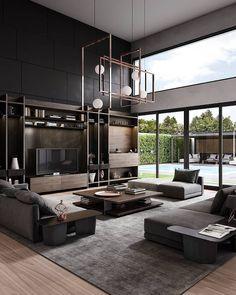 Home Decoration Design .Home Decoration Design Interior Design Living Room, Living Room Designs, Living Room Decor, Living Rooms, Interior Paint, Apartment Living, Loft Design, Modern House Design, Modern Houses