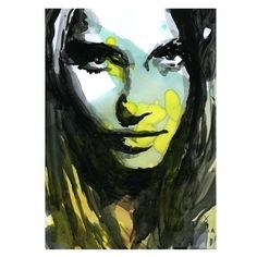 Mixed Media Print Art Fashion Woman Face with Stain (250 MXN) ❤ liked on Polyvore featuring home, home decor, wall art, faces, face painting, watercolor painting, water color painting, mixed media wall art i mixed media painting