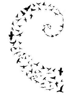 Stars into dust instead of birds #Fibonacci #birds  Just let it go                                                                                                                                                     More