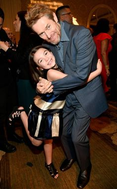 Brooklynn Prince & Willem Dafoe: Golden Globes 2018 Party Pics