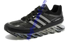 Shoes For Men Carbon Black Adidas New Springblade Metallic Silver Black