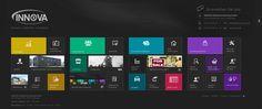 Ein Design im Windows 8 Style für einen Immobilienverwalter.