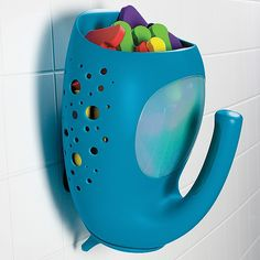 Best bath organizer ever! Holds many toys and drains well to keep from developing mildew