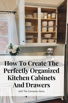 Kitchen Cabinet Organization, Diy Kitchen Storage, Kitchen Cabinet Design, Cabinet Ideas, Kitchen Hacks, Drawer Ideas, Decorating Kitchen, Kitchen Storage & Organization, Organizing Ideas For Kitchen