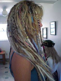 "Any Color & Length Hair Wrap Extension Stripe Yarn Atebas SE Loop Temporary Accessory Thin Braid-In Dread Rainbow Colors Custom 15"" 20"" 25"". $12.00, via Etsy."