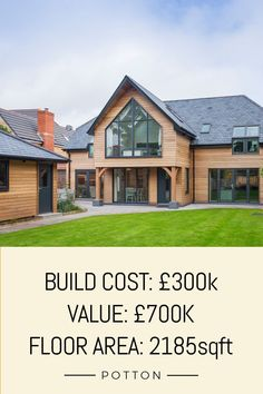 How much does it cost to build a house? This house was built for £300K and was valued at £700K when completed.  Built by Potton Homes, self-build specialists.  #pottonhomes #budgetbuild #buildingahouse #dreamhome #dreamhouse #selfbuild