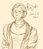 Rajah (Jasmin's Tiger) as a human by chacckco http://chacckco.deviantart.com/gallery/